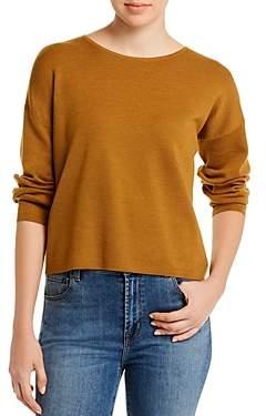 Eileen Fisher Merino Wool Wide-Crewneck Sweater