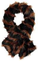 Kaleidoscope Stripe Faux Fur Stole