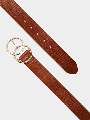 Very Lydia Double Buckle Belt - Tan