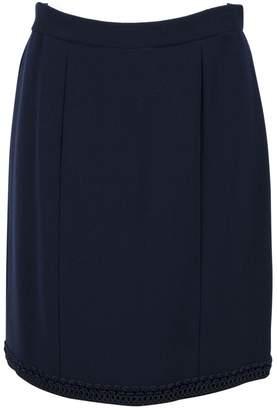 Chanel Navy Silk Skirts