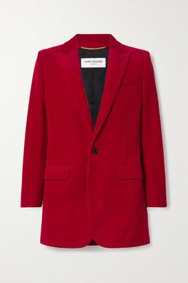 Saint Laurent Cotton-corduroy Blazer - Red