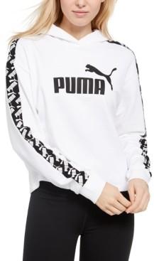Puma Women's Amplified Cropped Logo Hoodie