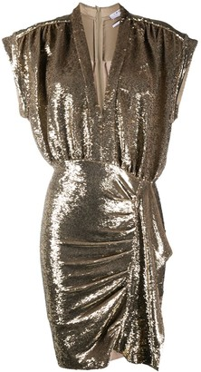 IRO sequinned fitted dress