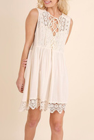 Umgee USA Cream Lace Dress