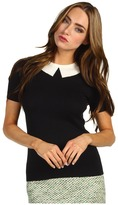 Kate Spade All Wrapped Up Susan Sweater (Black/Clotted Cream) - Apparel