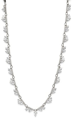 Adriana Orsini Dia Plated Silver & Cubic Zirconia All Around Necklace