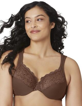 Glamorise Full Figure Plus Size Wonderwire Back Close Bra #1240 Black