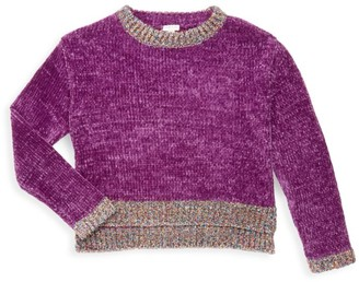Habitual Little Girl's & Girl's Cassidy Chenille Sweater