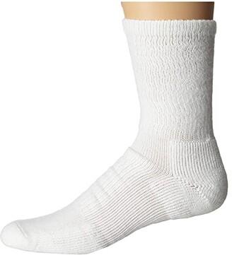 Thorlos Walking Crew Single Pair (White) Crew Cut Socks Shoes