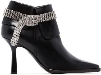 Sies Marjan Niki 90mm crystal strap boots