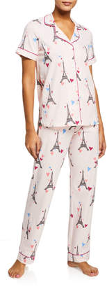Bedhead Pajamas Eiffel Tower Short-Sleeve Classic Pajama Set