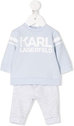 Karl Lagerfeld Paris Signature Tracksuit Set