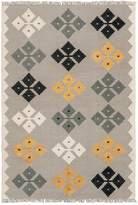 Amigos De Hoy Hand Woven Petal Rug, Gold, 130x200cm
