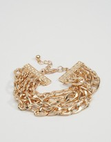 Asos Chain Bracelet In Gold
