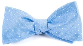 Tie Bar Destination Dots Light Blue Bow Tie