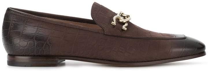 Salvatore Ferragamo chain trim loafers
