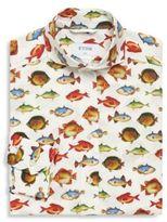 Eton Fish Print Regular-Fit Cotton Dress Shirt