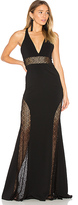 Jay Godfrey Tenor Gown in Black