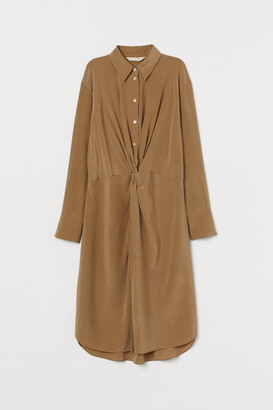 H&M Silk Shirt Dress