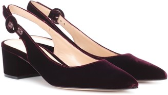 Gianvito Rossi Exclusive to mytheresa.com Amee velvet slingback pumps