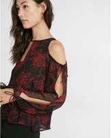 Express square open neck blouse