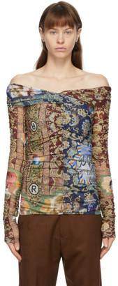Martine Rose Multicolor Volks Mesh Wrap Blouse