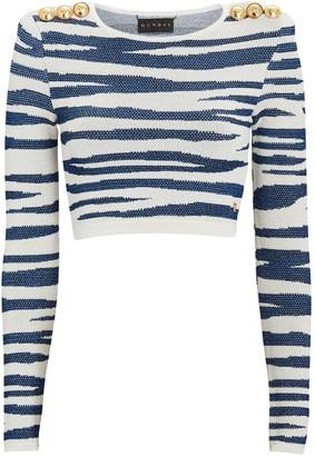 Dundas Tiger Knit Jacquard Crop Top