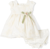 Laura Ashley Ivory Lace A-Line Dress - Infant Toddler & Girls