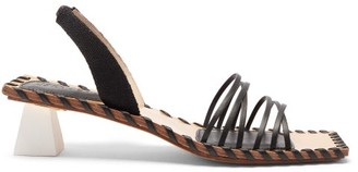 Jacquemus Valerie Slingback Leather Sandals - Black