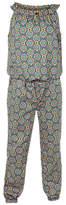 Fat Face Girls' Giraffe Print Woven Jumpsuit, Khaki