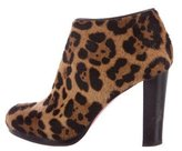 Christian Louboutin Ponyhair Leopard Booties
