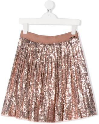 John Richmond Junior TEEN pleated sequin skirt