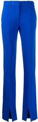 Victoria Beckham front split Tuxedo trousers