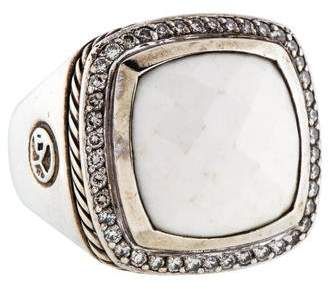 David Yurman Diamond & White Agate Albion Cocktail Ring