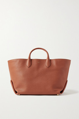 KHAITE Envelope Pleat Medium Textured-leather Tote - Orange
