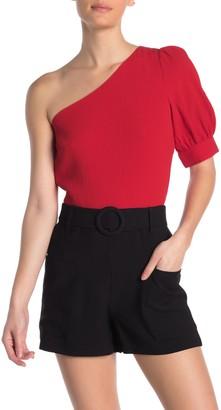 Elodie K Textured One-Shoulder Top