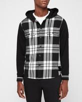 Express Brooklyn Nets Nba Hooded Shirt Jacket