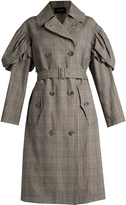 Simone Rocha Prince of Wales-checked trench coat