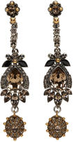 Alexander McQueen Multicolor Jeweled Drop Earrings
