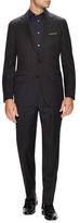 Hickey Freeman Wool Windowpane Notch Lapel Suit