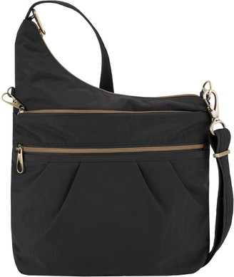 Travelon Anti-Theft Signature Three-CompartmentCrossbody Bag