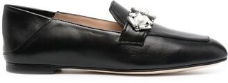 Stuart Weitzman Wylie crystal embellished loafers