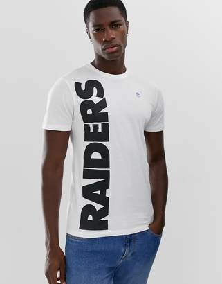 ONLY & SONS NFL raiders t-shirt in white