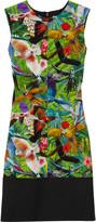 Spring tropical-print silk crepe de chine dress