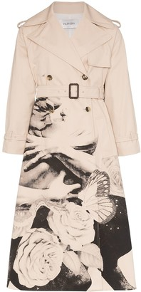 Valentino x Undercover Graphic Lovers print trench coat