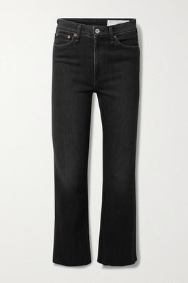 Rag & Bone Nina Cropped High-rise Flared Jeans - Black