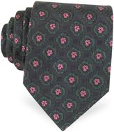 Forzieri Floral Woven Silk Tie