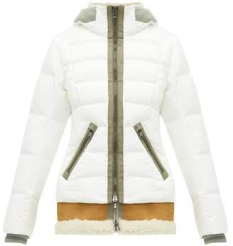 Bogner Elya D Shearling Insert Down Filled Hooded Jacket - Womens - White