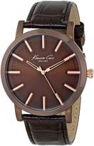Kenneth Cole New York Men's KC8044 Slim Round Triple Ion-Plated Rose Gold Watch