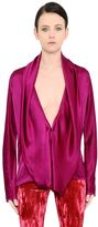 Haider Ackermann Draped Silk Satin Shirt